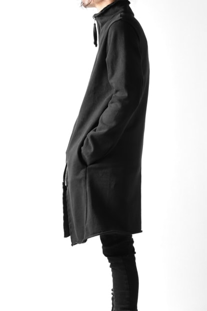 thom/krom STAND NECK ZIP COAT / MEDIUM JERSEY