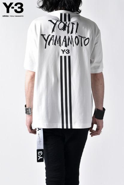 Y-3 YOHJI YAMAMOTO ADIDAS 2019SS LOGO GRAPHIC T-SHIRT