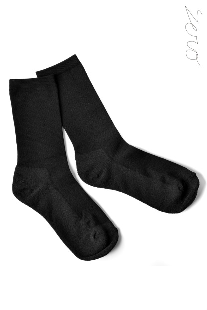 ZERO Silk&Japanesepaper Deodorize High Socks - Black