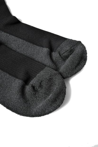 ZERO Silk&Japanesepaper Deodorize High Socks - Gray x Black