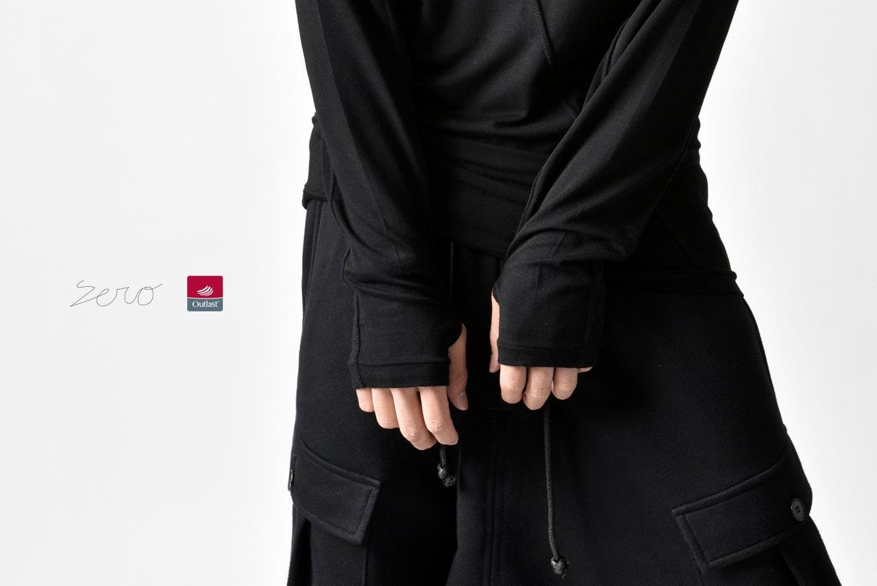 ZERO Slash Cut Outlast® Long Sleeve Cut&Sewn - Black