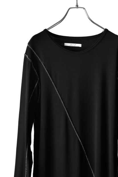ZERO Slash Cut Outlast® Long Sleeve Cut&Sewn - Black x White