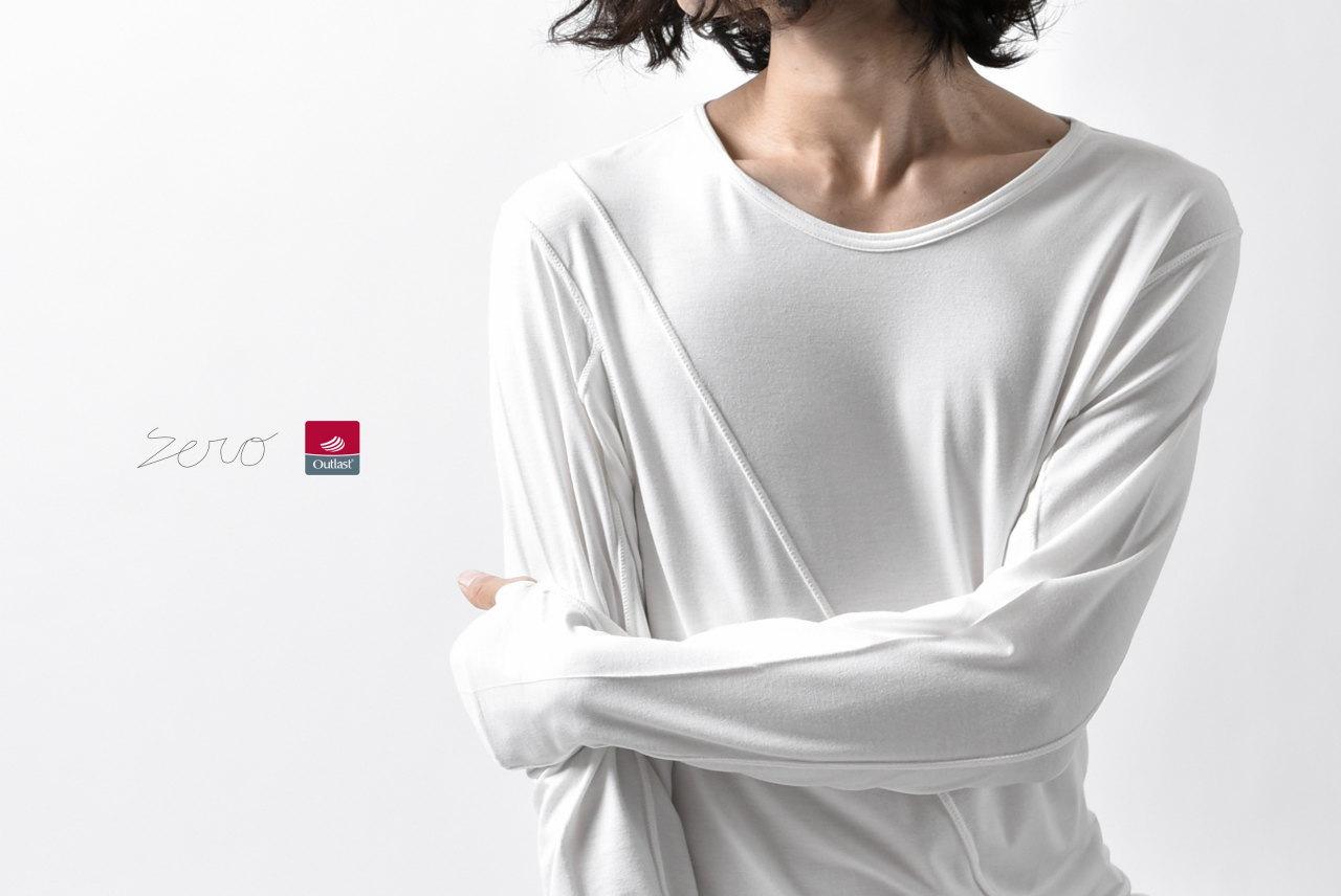 ZERO Slash Cut Outlast® Long Sleeve Cut&Sewn - White
