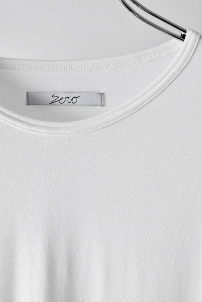 ZERO Slash Cut Outlast® Long Sleeve Cut&Sewn - White x Black