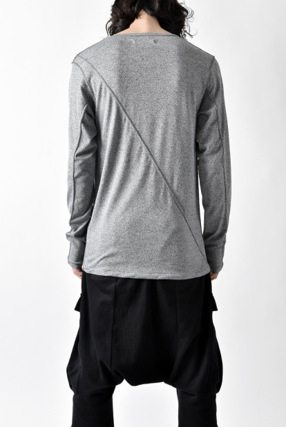 ZERO Slash Cut Japanesepaper Long Sleeve Cut&Sewn - Gray