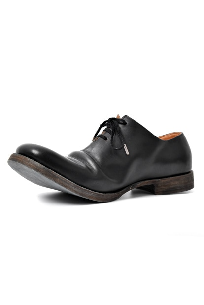 an.plus.n GUIDI vitello fiore 4-HOLE ONEPIECE DERBY SHOES