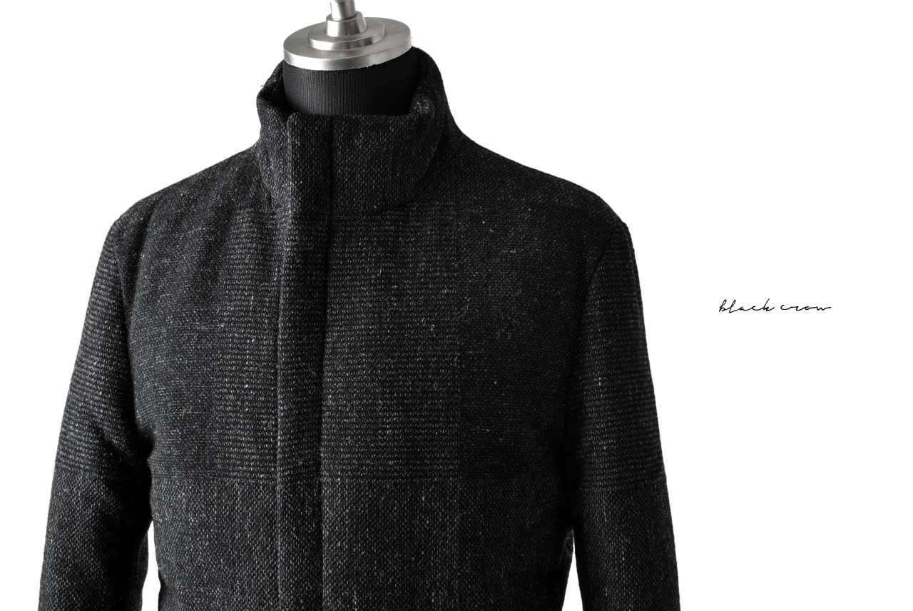 blackcrow padded blouson(wool dark check)