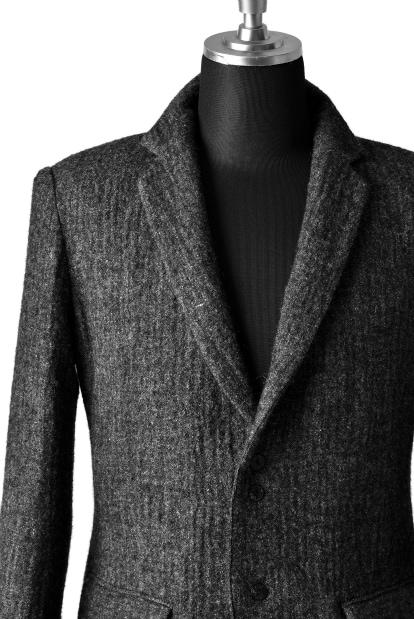 blackcrow notched 3B jacket (wool linen fulling)
