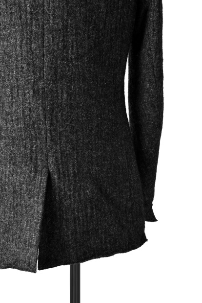 blackcrow notched 3B jacket (wool linen fulling)