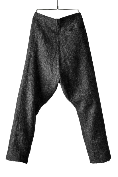 blackcrow tapered pants (wool linen fulling)