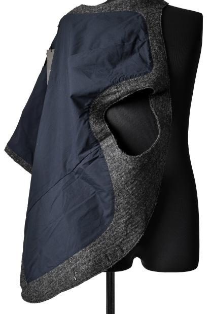 blackcrow tailor vest  (wool linen fulling)