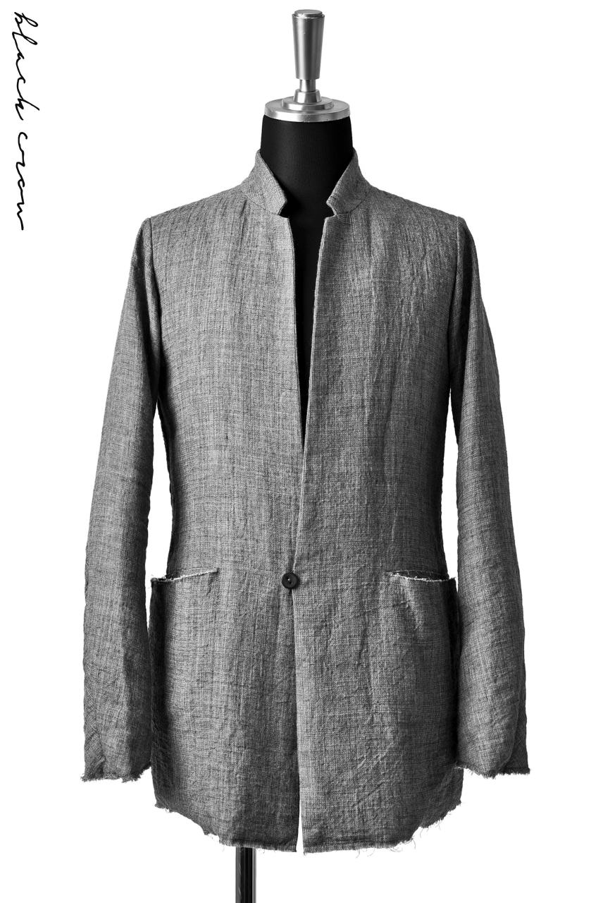 blackcrow double weave 1B jacket with low collar