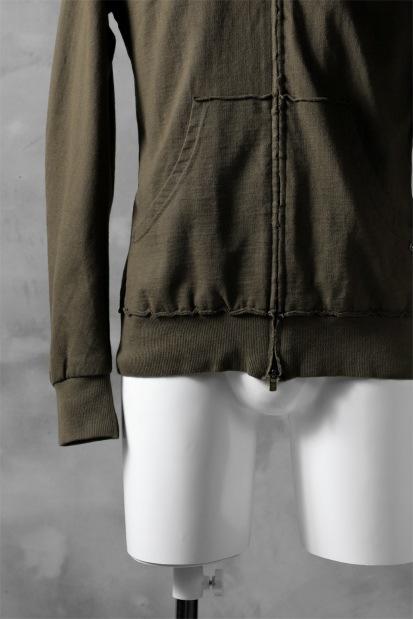 blackcrow hoodie zip parka / medium jersey