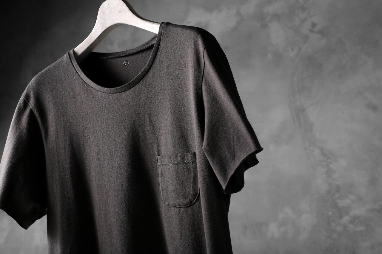 blackcrow short sleeve pocket tee / GIZA cotton light jersey