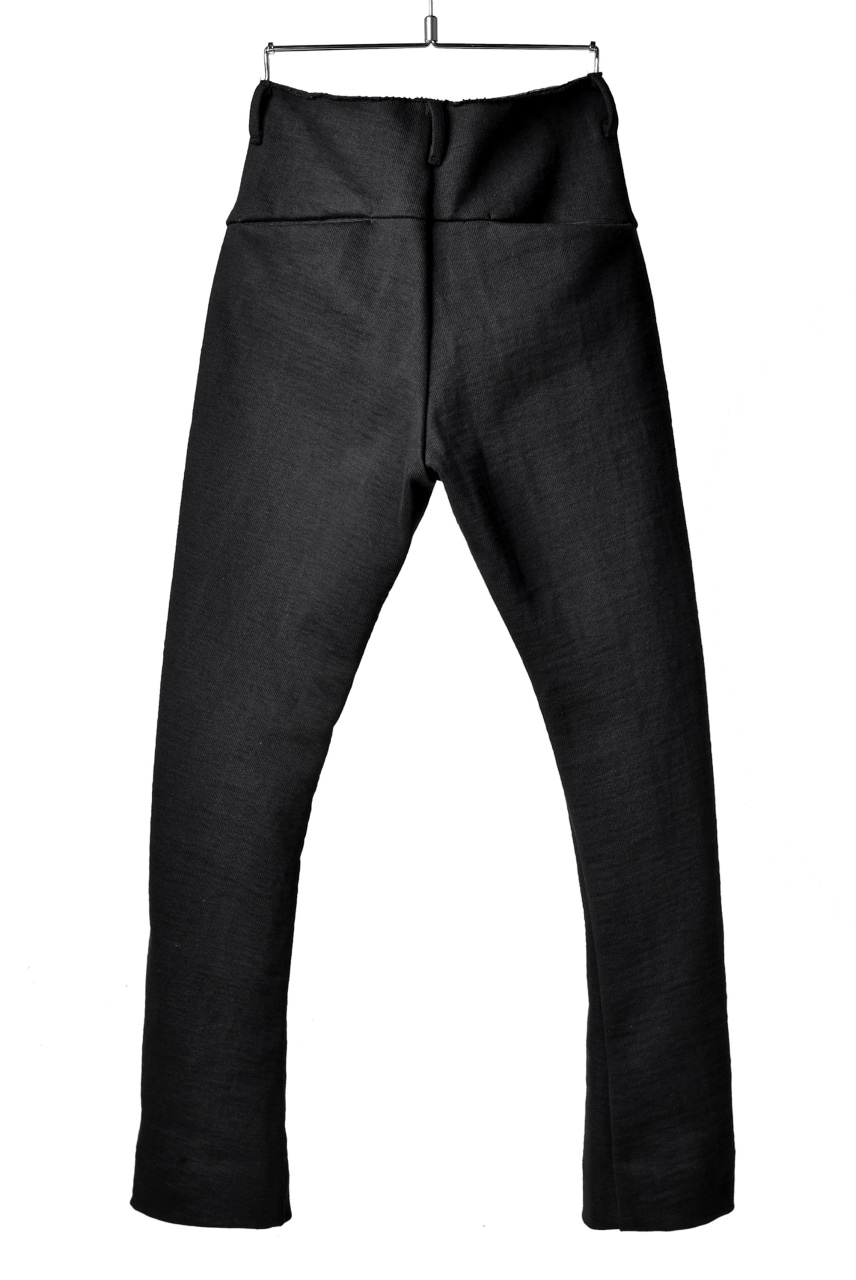 blackcrow trousers heavy jersey with SV button