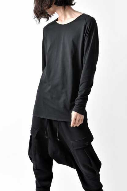 blackcrow long sleeve cutsewn GIZA cotton light jersey