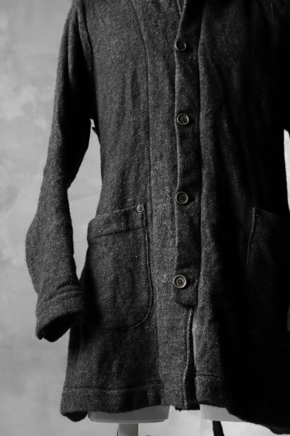 daska ALEN fencing coat / Enshu-Tweed sumi dyed