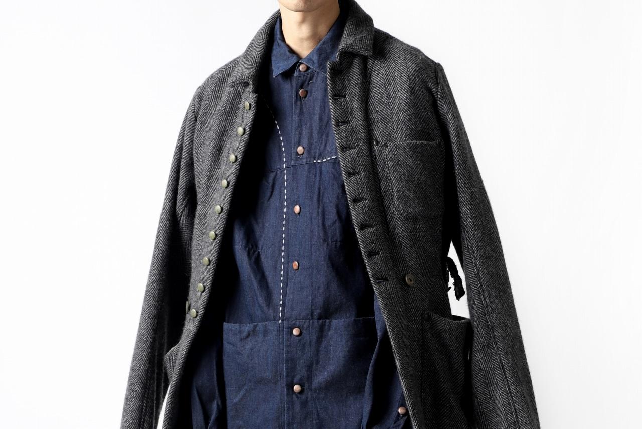 daska NOBLE stitchwork shirt / tencel denim