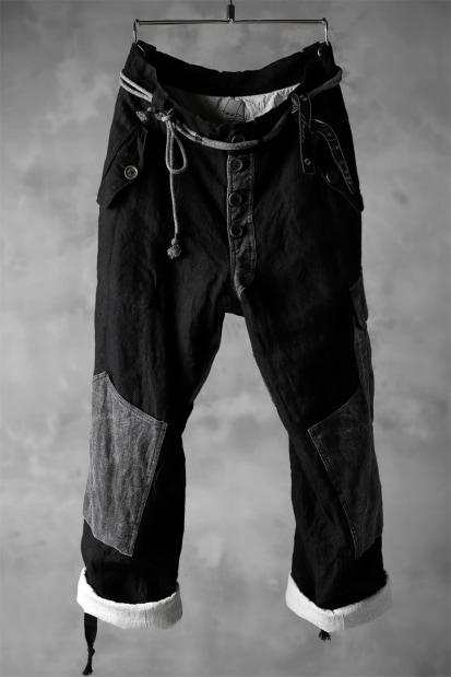 daska d-25 cargo pocket pants / combi linen