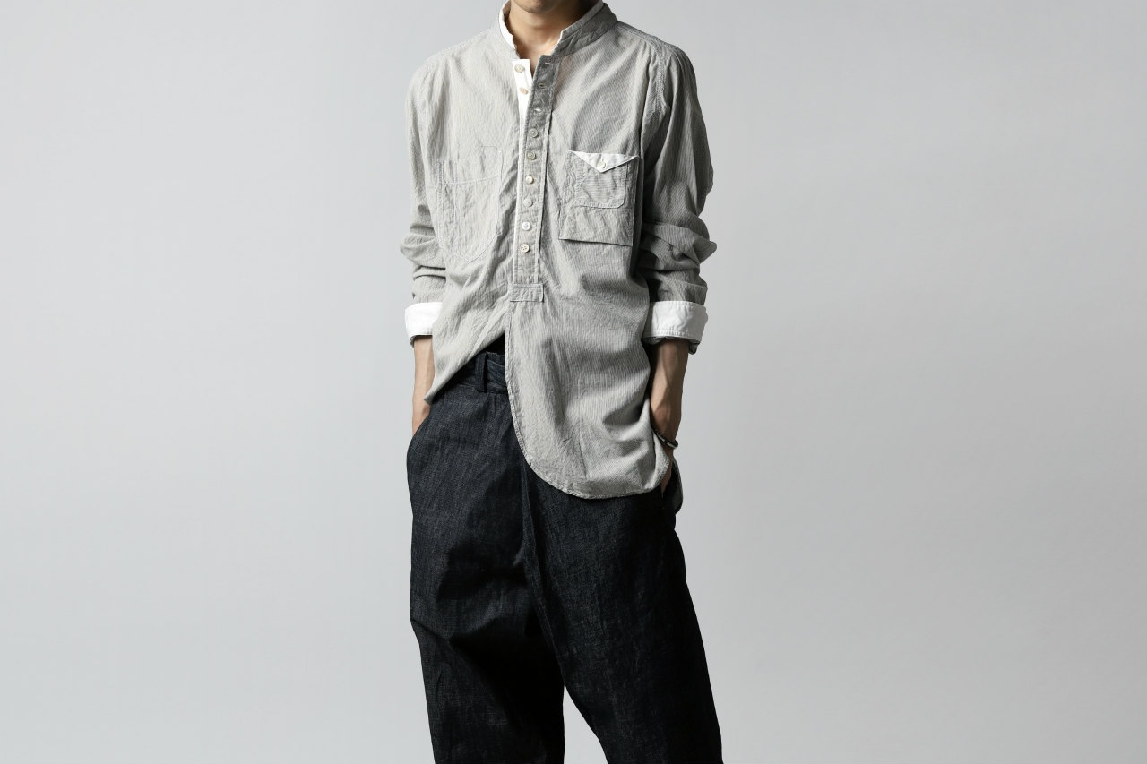 daska stripe double collar shirt / co&te