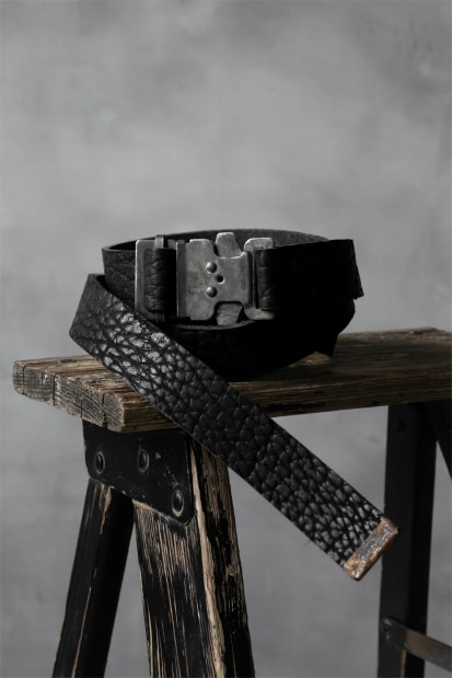 ierib exclusive Onepiece Cobra Buckle Dafety Belt / Bull Leather