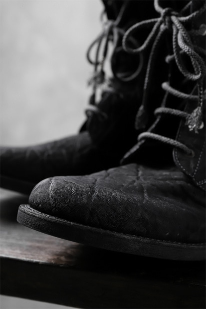 ierib exclusive LOGGER lace up boots / african elephant hand dyed