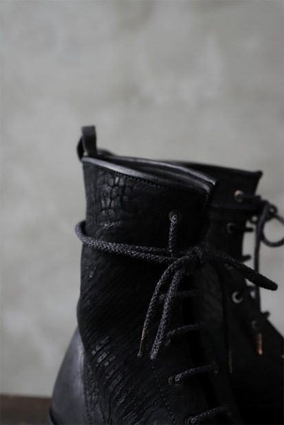 ierib LOGGER lace up boots / horse butt leather