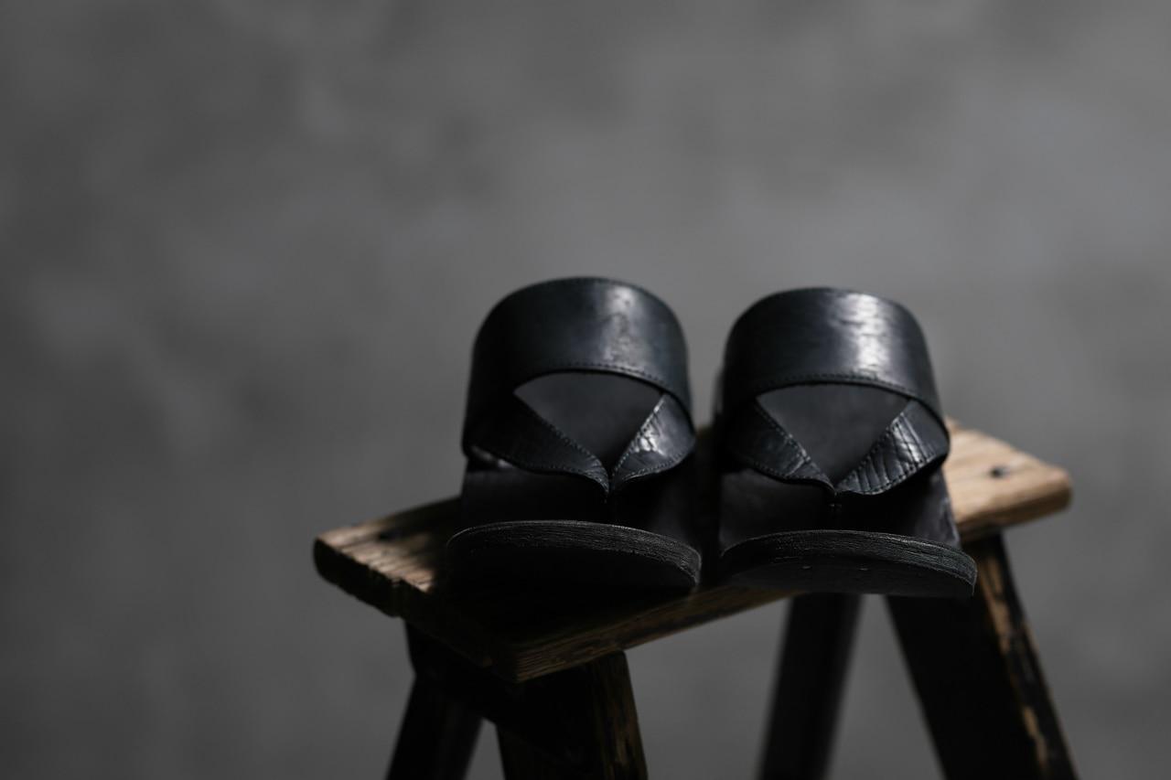 ierib JP SETTA Sandal / waxy culatta (Black Overdyed)