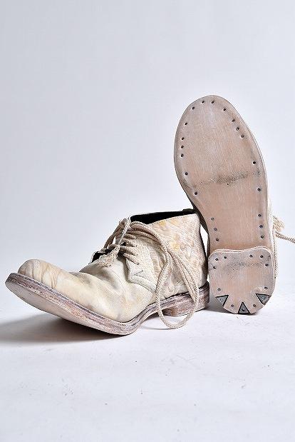 ierib TECTA DERBY SHOES WAXED HORSE BUTT PHOSPHORIC ACID TANNING DIRT WHITE
