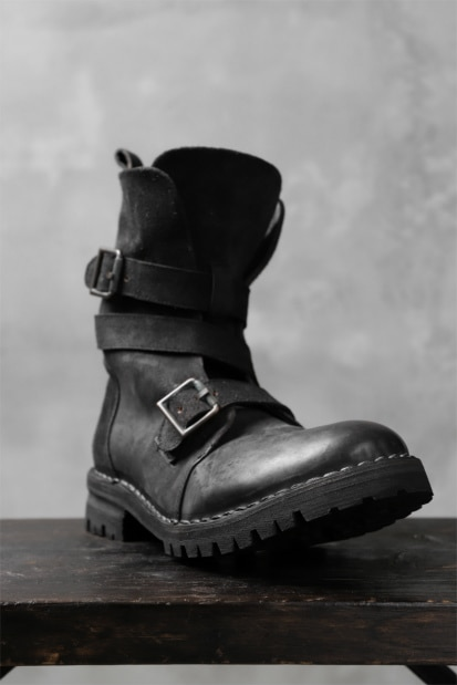 masnada ENGINEER BOOTS / REVERSED HORSE LEATHER