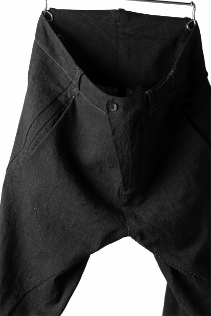 masnada TWIST SLIM PANT/ CRUMPLED LINEN COTTON