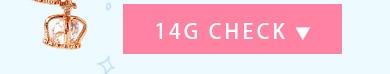 ボディピアス 14G 2連クラウンチャームバーベル1