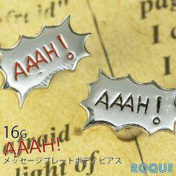 16G AAAH メッセージプレート ストレートバーベル