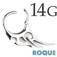 ボディピアス 14G トライバルセグメントクリッカー