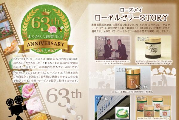 63年記年薔薇とみつばちセット