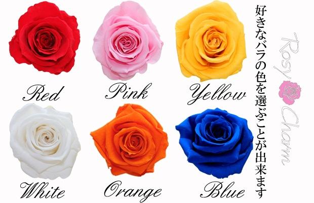 1輪のバラ プリザーブドフラワー色の種類
