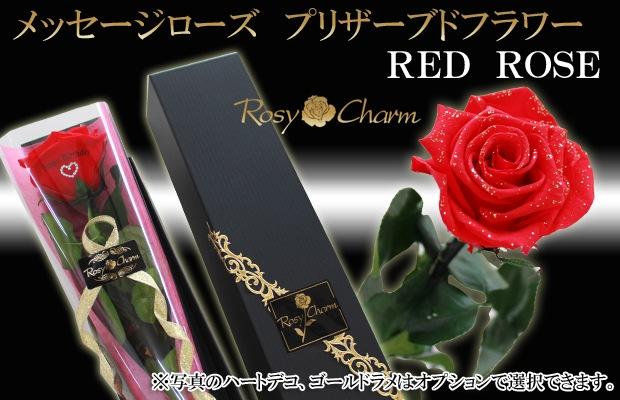 メッセージローズ プリザーブドフラワー赤いバラ
