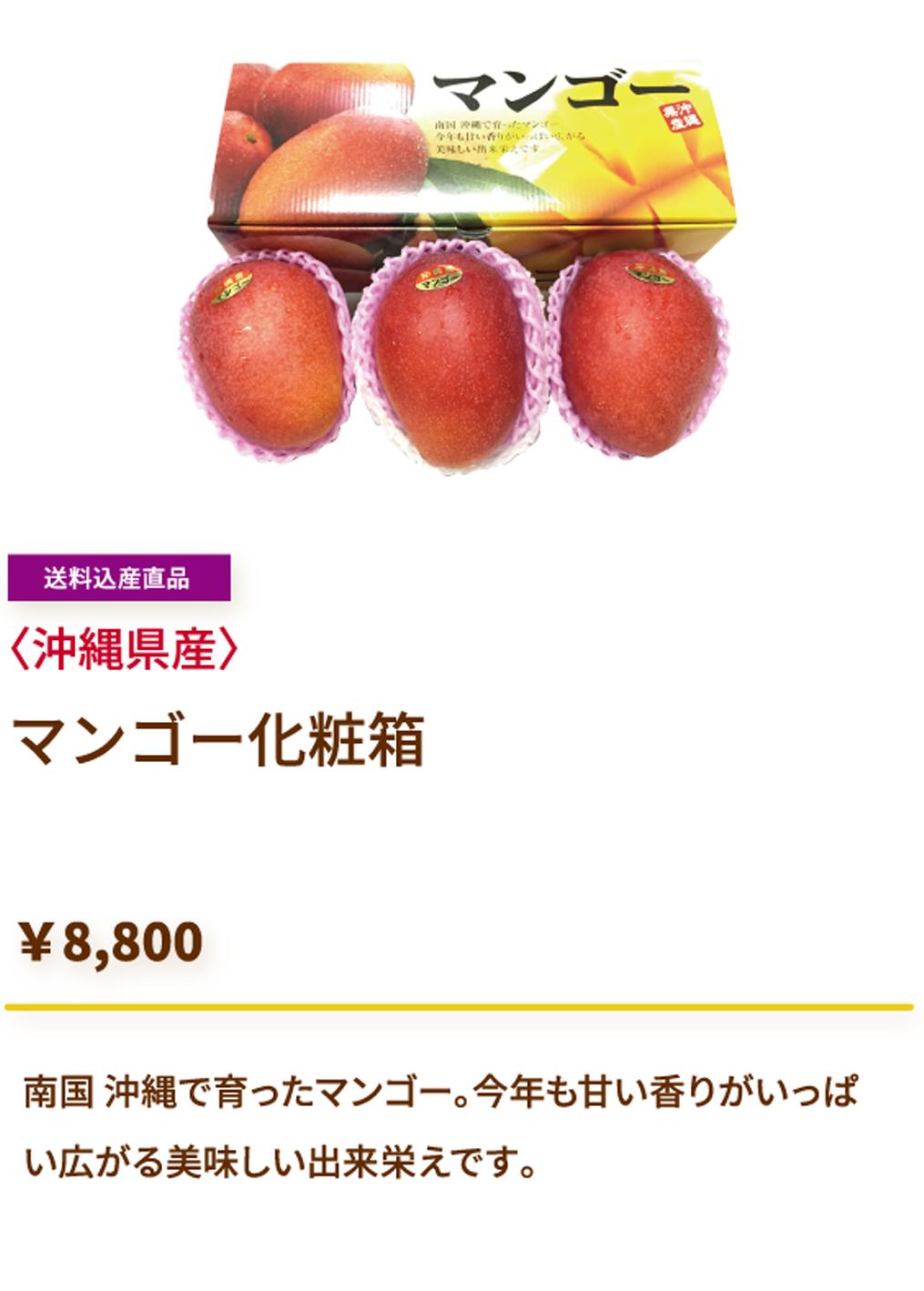 マンゴー化粧箱