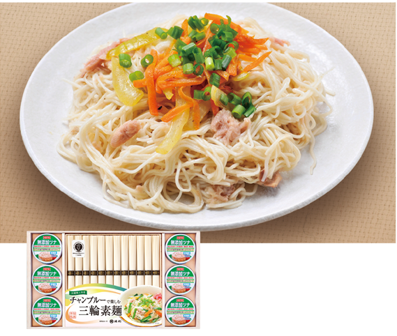 チャンプルーで楽しむ手延三輪素麺