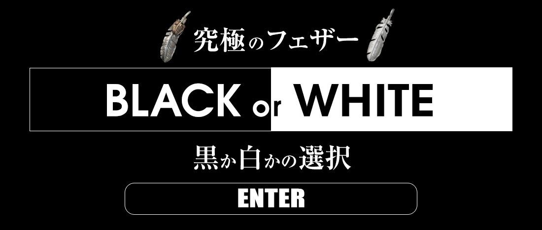 究極のフェザー 黒か白かの選択