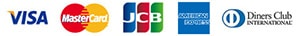 VISA MasterCard Diners JCB AMEX