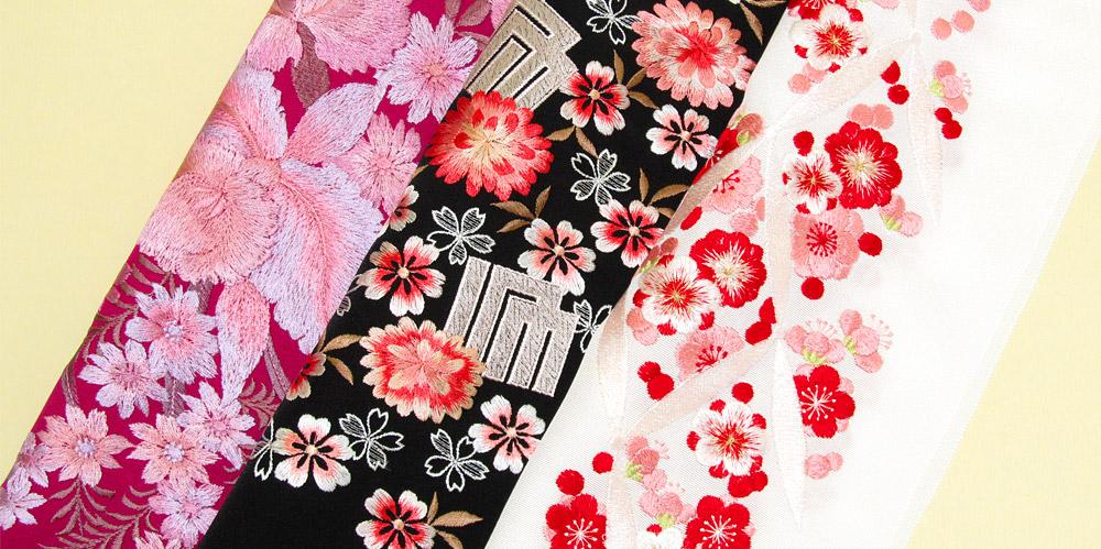華やかな刺繍の振袖用半衿
