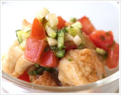 鶏肉の夏野菜マリネ