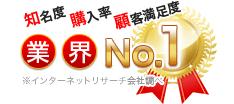 知名度・購入率・顧客満足度/業界No.1/※インターネットリサーチ会社調べ