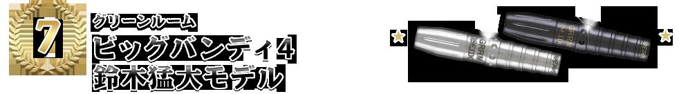 [7位]【グリーンルーム「ビッグバンディ4 鈴木猛大モデル」】