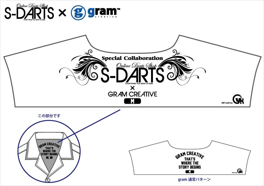 gramとS-DARTSのコラボレーション記念
