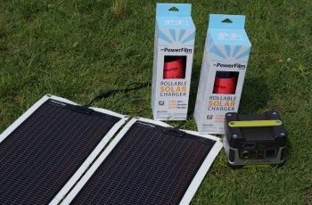 パワーフィルムのソーラーパネルとゴールゼロの蓄電池(バッテリー)