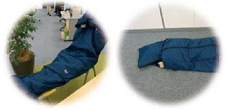 3Mシンサレート災害用スリーピングバッグ(寝袋)フード付きだからプライバシーにも配慮  | 暖かく薄いので椅子に座りながら、また床にと、どんな場所でも眠れます。