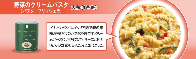 野菜のクリームパスタ(パスタ・プリマヴェラ) 大缶(1号缶)