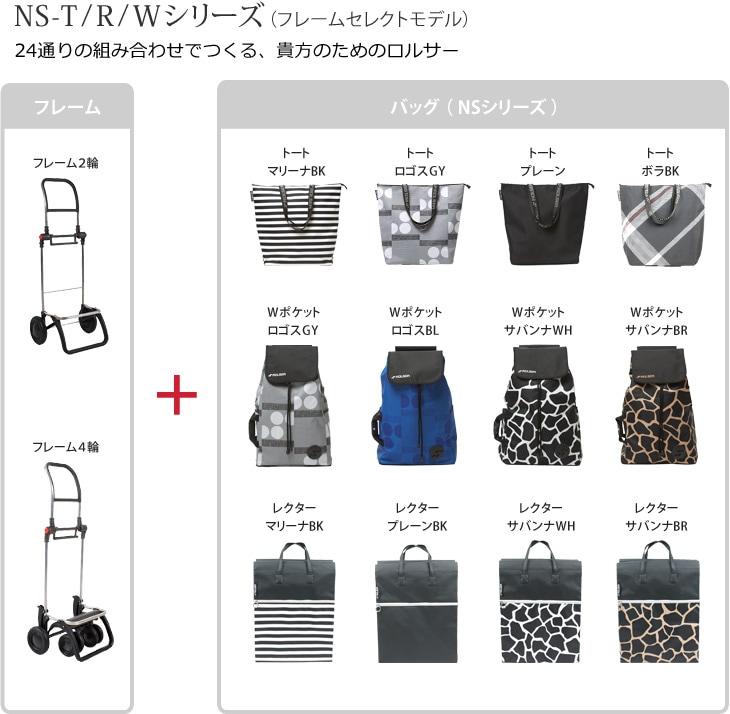 NS-T/R/Wシリーズ(フレームセレクトモデル)24通りの組み合わせでつくる、貴方のためのロルサー